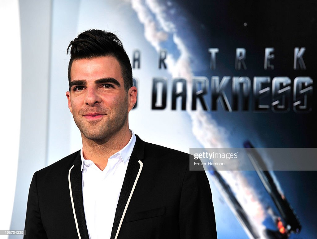 Actor Zachary Quinto arrives at the premiere of Paramount Pictures' 'Star Trek Into Darkness' at the Dolby Theatre on May 14, 2013 in Hollywood, California.