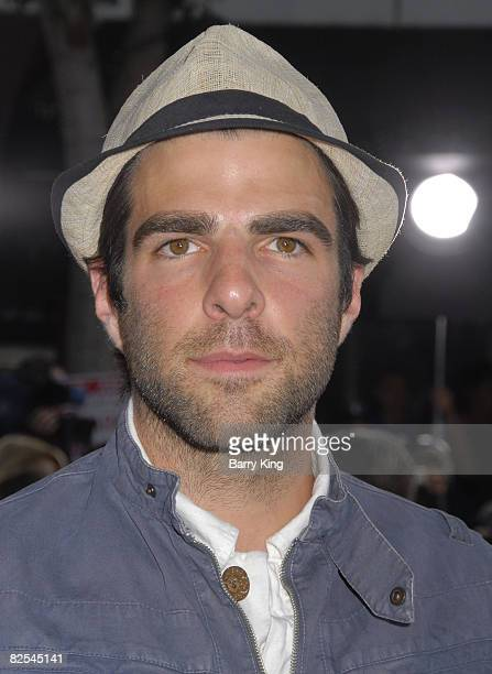 Actor Zachary Quinto arrives at The World Premiere of 'Get Smart' at the Mann Village Theatre on June 16 2008 in Westwood California