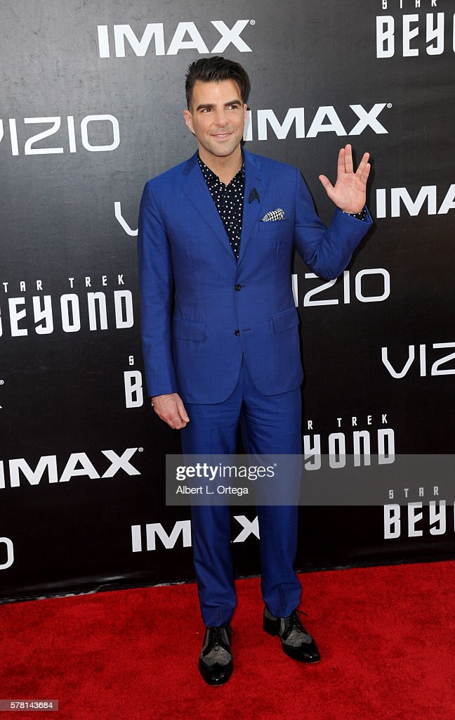 Actor Zachary Quinto arrives for the premiere of Paramount Pictures' 'Star Trek Beyond' held at Embarcadero Marina Park South on July 20, 2016 in San Diego, California.