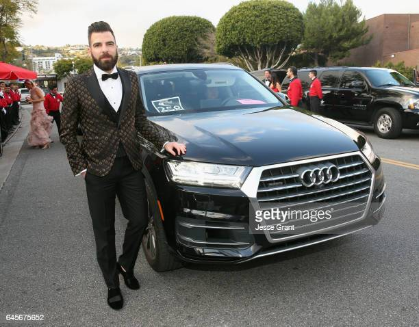 Actor Zachary Quinto arrives in an Audi Q7 to the 25th Annual Elton John AIDS Foundation's Academy Awards Viewing Party at The City of West Hollywood...