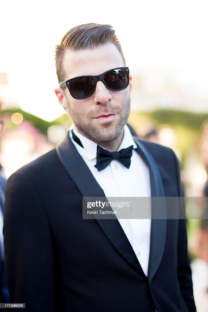 Actor <a gi-track='captionPersonalityLinkClicked' href=/galleries/search?phrase=Zachary+Quinto&family=editorial&specificpeople=715956 ng-click='$event.stopPropagation()'>Zachary Quinto</a> attends at the cocktail party for amfAR's 20th Annual Cinema Against AIDS at Hotel du Cap-Eden-Roc on May 23,2013 in Cap d'Antibes, France.