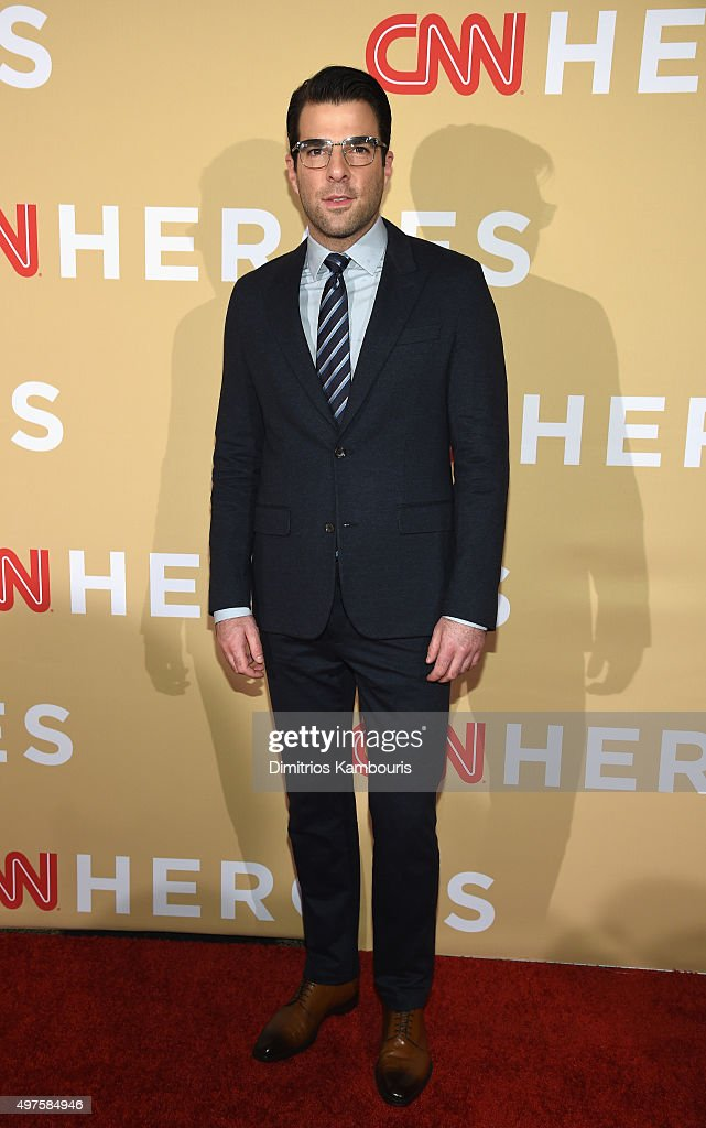 Actor <a gi-track='captionPersonalityLinkClicked' href=/galleries/search?phrase=Zachary+Quinto&family=editorial&specificpeople=715956 ng-click='$event.stopPropagation()'>Zachary Quinto</a> attends CNN Heroes 2015 - Red Carpet Arrivals at American Museum of Natural History on November 17, 2015 in New York City. 25619_023