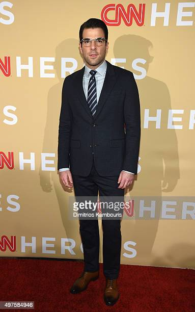 Actor Zachary Quinto attends CNN Heroes 2015 Red Carpet Arrivals at American Museum of Natural History on November 17 2015 in New York City 25619_023