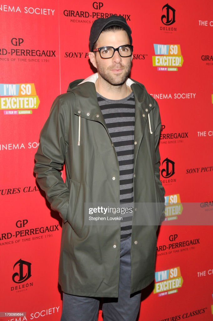 Actor <a gi-track='captionPersonalityLinkClicked' href=/galleries/search?phrase=Zachary+Quinto&family=editorial&specificpeople=715956 ng-click='$event.stopPropagation()'>Zachary Quinto</a> attends Girard-Perregaux And The Cinema Society With DeLeon Host a Screening Of Sony Pictures Classics' 'I'm So Excited' at Sunshine Landmark on June 6, 2013 in New York City.