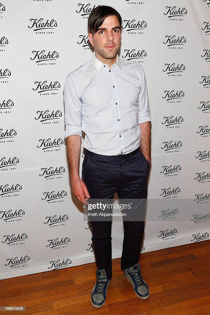 Actor Zachary Quinto attends Kiehl's launch of an Environmental Partnership Benefiting Recycle Across America at Kiehl's Since 1851 Santa Monica Store on April 17, 2013 in Santa Monica, California.