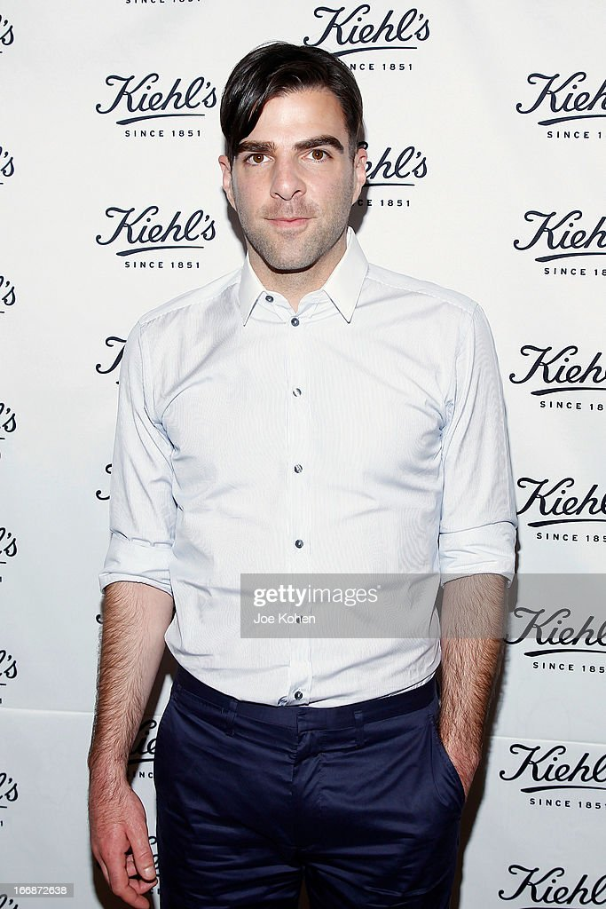 Actor Zachary Quinto attends Kiehl's launches environmental partnership benefiting recycle across America at Kiehl's Since 1851 Santa Monica Store on April 17, 2013 in Santa Monica, California.