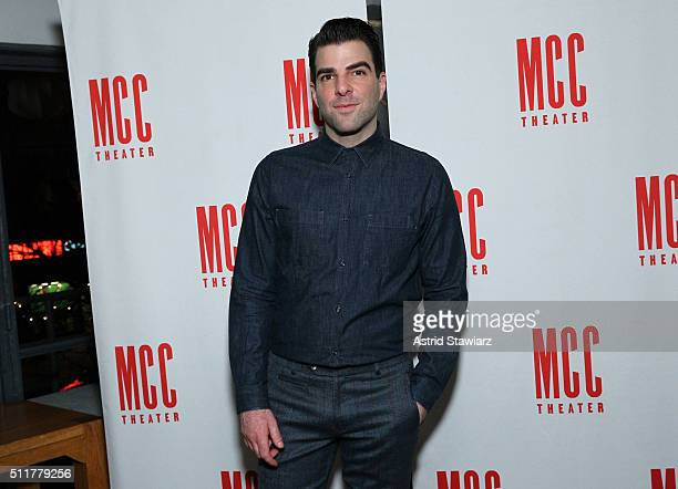 Actor Zachary Quinto attends 'Smokefall' Opening Night After Party at SushiSamba 7 on February 22 2016 in New York City