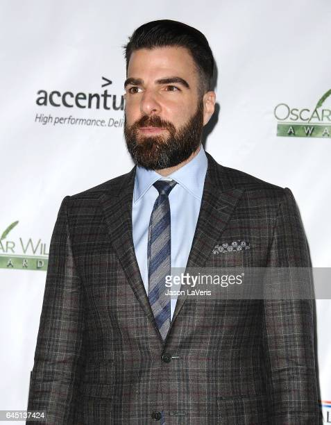 Actor Zachary Quinto attends the 12th annual Oscar Wilde Awards at Bad Robot on February 23 2017 in Santa Monica California
