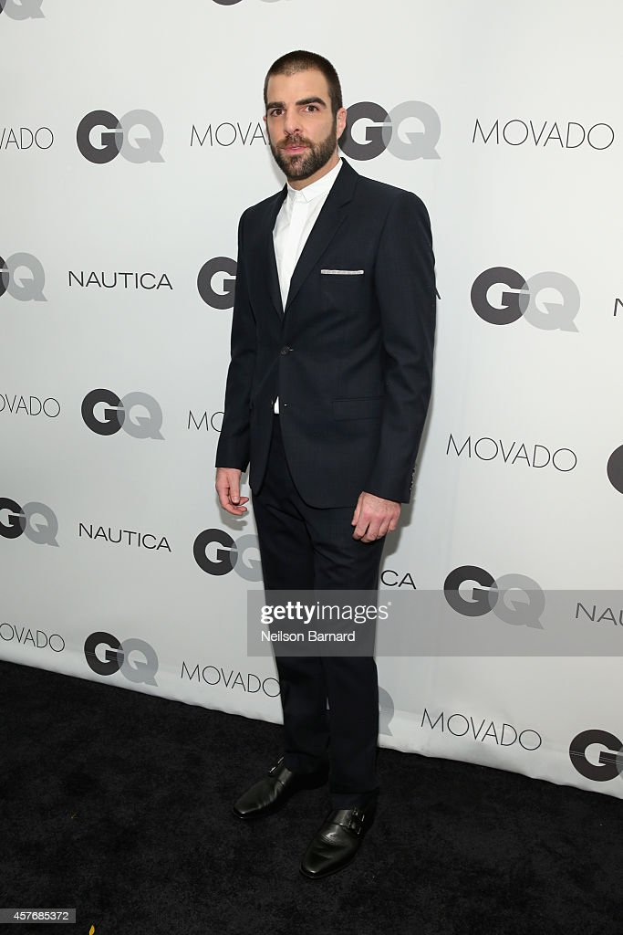 Actor <a gi-track='captionPersonalityLinkClicked' href=/galleries/search?phrase=Zachary+Quinto&family=editorial&specificpeople=715956 ng-click='$event.stopPropagation()'>Zachary Quinto</a> attends the 2014 GQ Gentlemen's Ball at IAC HQ on October 22, 2014 in New York City.
