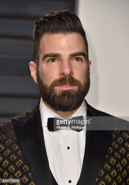 Actor Zachary Quinto attends the 2017 Vanity Fair Oscar Party hosted by Graydon Carter at Wallis Annenberg Center for the Performing Arts on February...