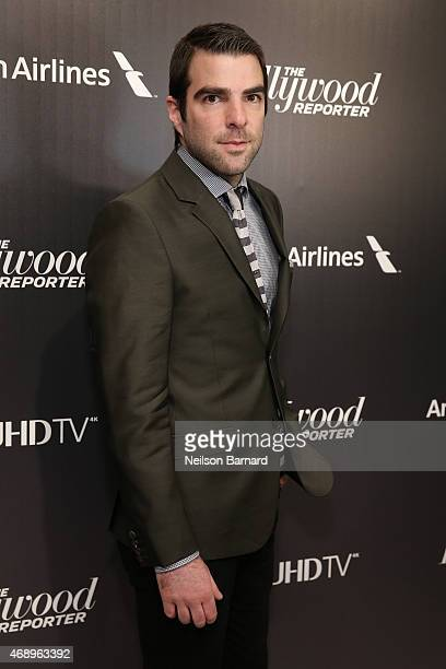 Actor Zachary Quinto attends 'The 35 Most Powerful People In Media' celebrated by The Hollywoood Reporter at Four Seasons Restaurant on April 8 2015...