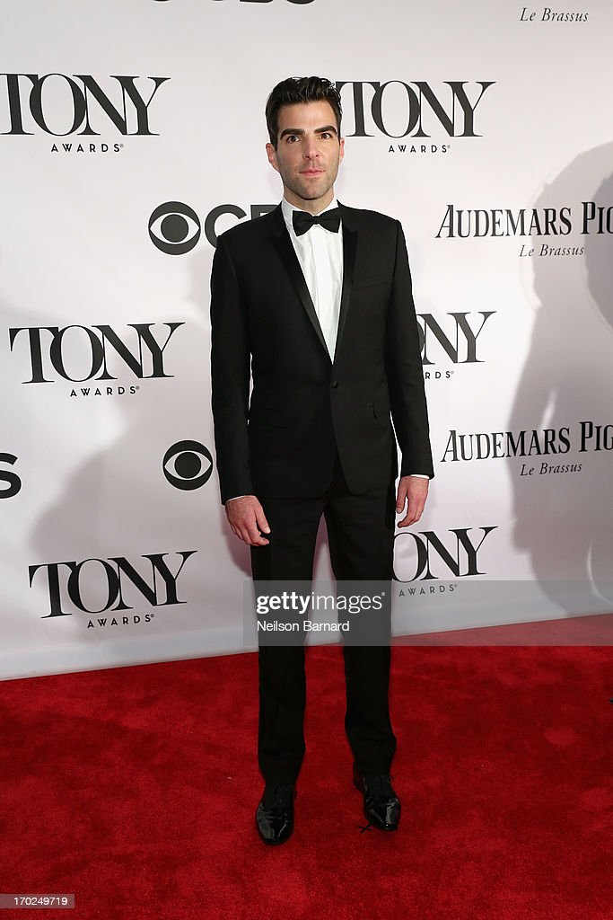 Actor <a gi-track='captionPersonalityLinkClicked' href=/galleries/search?phrase=Zachary+Quinto&family=editorial&specificpeople=715956 ng-click='$event.stopPropagation()'>Zachary Quinto</a> attends The 67th Annual Tony Awards at Radio City Music Hall on June 9, 2013 in New York City.