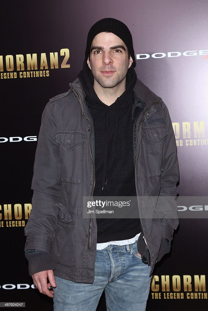 Actor <a gi-track='captionPersonalityLinkClicked' href=/galleries/search?phrase=Zachary+Quinto&family=editorial&specificpeople=715956 ng-click='$event.stopPropagation()'>Zachary Quinto</a> attends the 'Anchorman 2: The Legend Continues' U.S. premiere at Beacon Theatre on December 15, 2013 in New York City.