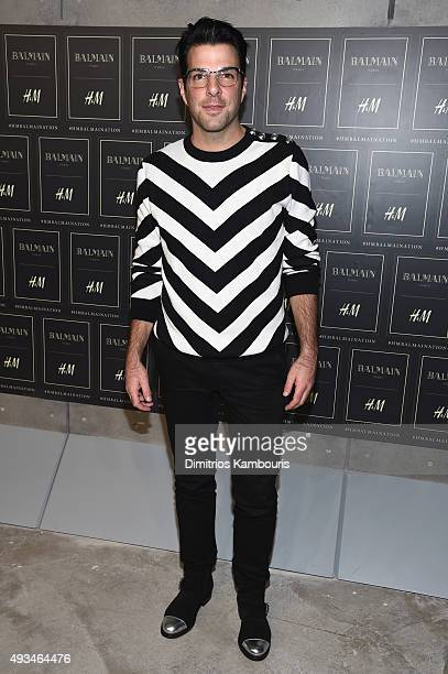 Actor Zachary Quinto attends the BALMAIN X HM Collection Launch at 23 Wall Street on October 20 2015 in New York City