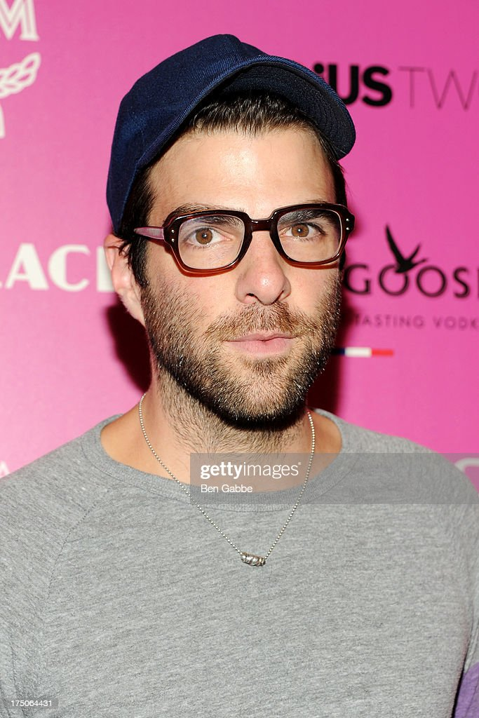 Actor Zachary Quinto attends The Cinema Society and MCM with Grey Goose host a screening of Radius TWC's 'Lovelace' at The Museum of Modern Art on July 30, 2013 in New York City.