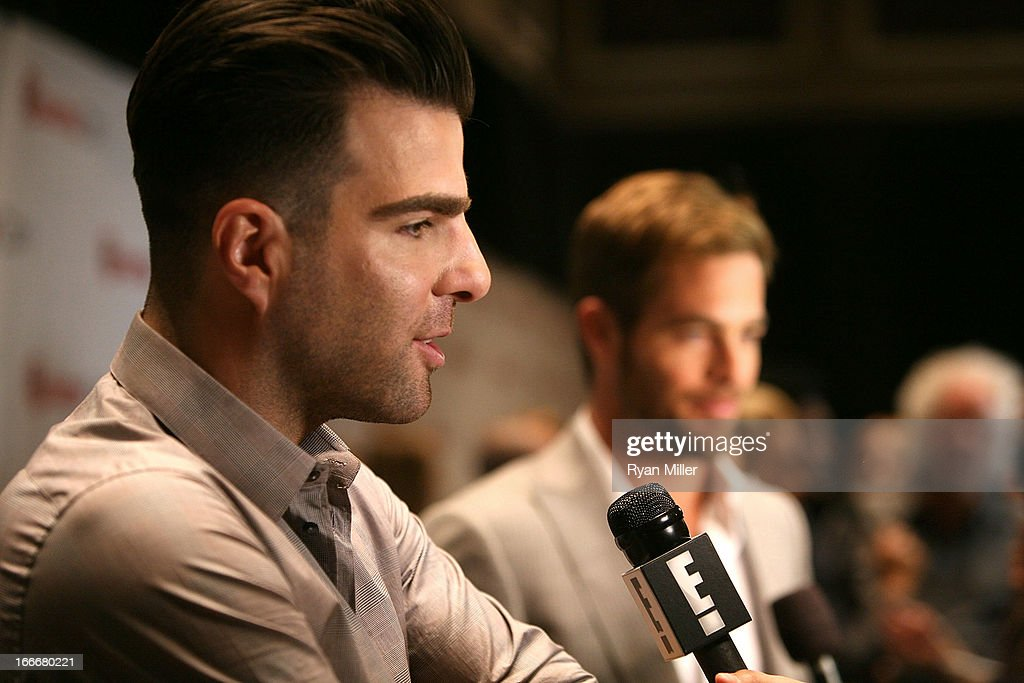 Actor <a gi-track='captionPersonalityLinkClicked' href=/galleries/search?phrase=Zachary+Quinto&family=editorial&specificpeople=715956 ng-click='$event.stopPropagation()'>Zachary Quinto</a> attends the CinemaCon 2013 Off and Running: Gala Opening Night Presentation by Paramount Pictures at Caesars Palace during CinemaCon, the official convention of the National Association of Theatre Owners, on April 15, 2013 in Las Vegas, Nevada.
