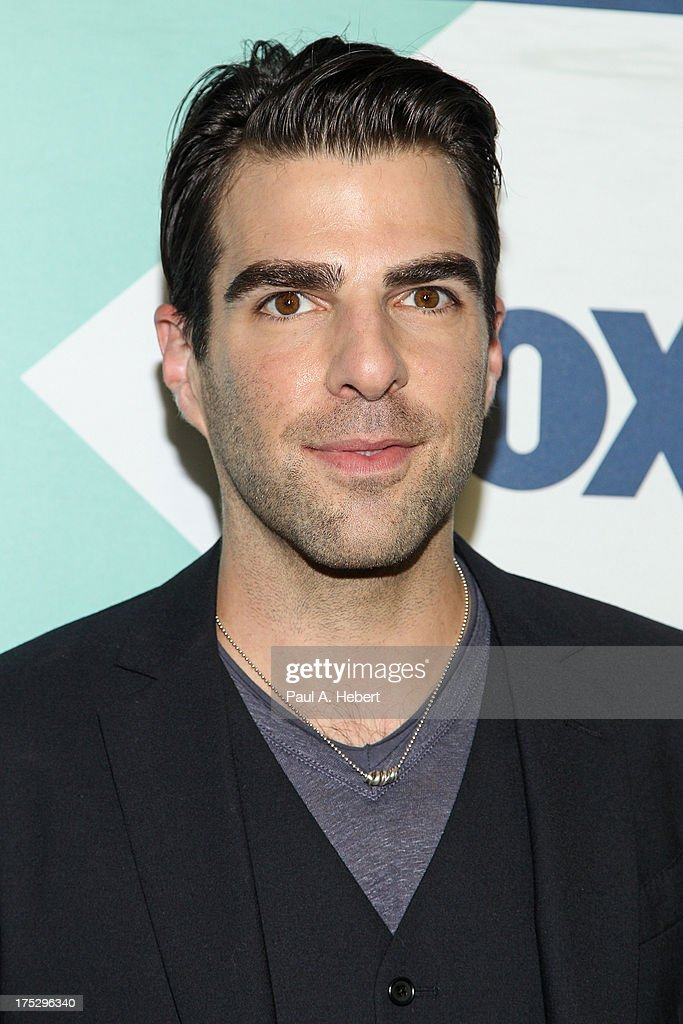 Actor <a gi-track='captionPersonalityLinkClicked' href=/galleries/search?phrase=Zachary+Quinto&family=editorial&specificpeople=715956 ng-click='$event.stopPropagation()'>Zachary Quinto</a> attends the Fox All-Star Party on August 1, 2013 in West Hollywood, California.