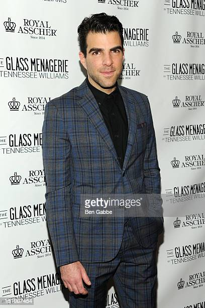 Actor Zachary Quinto attends 'The Glass Menagerie' Broadway Opening Night After Party at The Redeye Grill on September 26 2013 in New York City