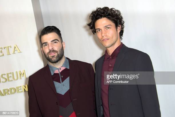 Actor Zachary Quinto attends the Hammer Museum Gala in the Garden honoring Ava Duvernay and Hilton Als sponsored by Bottega Veneta on October 14 in...