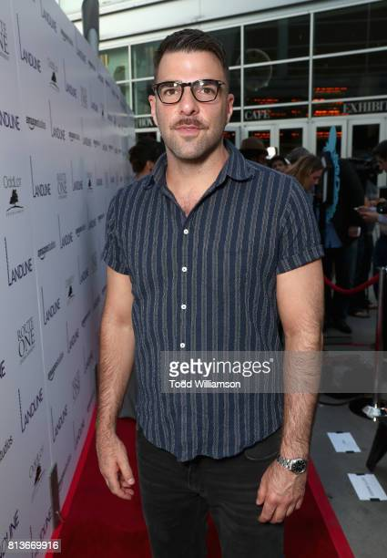 Actor Zachary Quinto attends the Los Angeles Premiere of 'Landline' at ArcLight Hollywood Cinemas on July 12 2017 in Los Angeles California