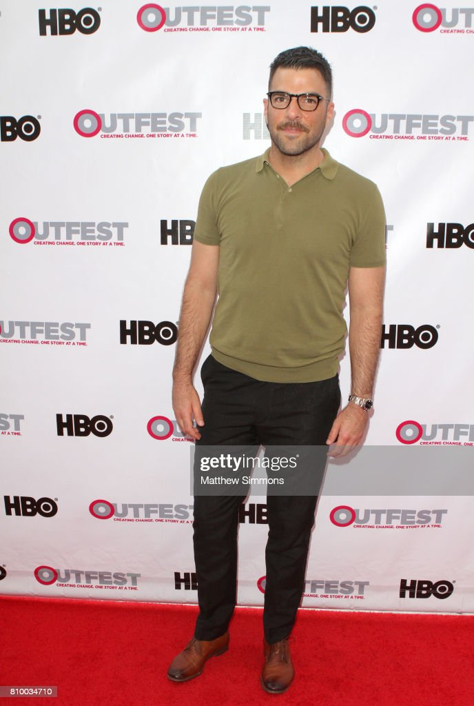 Actor Zachary Quinto attends the opening night gala of 'God's Own Country' at the 2017 Outfest Los Angeles LGBT Film Festival at Orpheum Theatre on July 6, 2017 in Los Angeles, California.