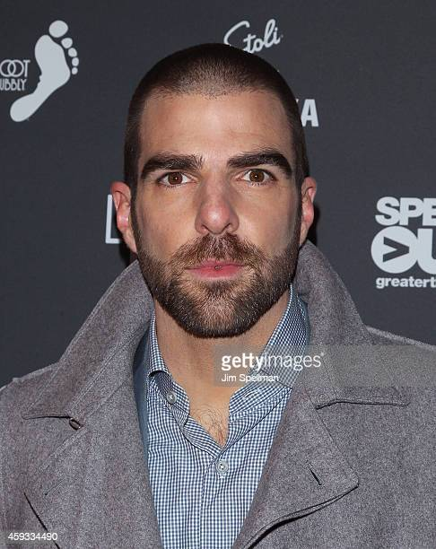 Actor Zachary Quinto attends the OUT100 2014 awards at Stage 48 on November 20 2014 in New York City