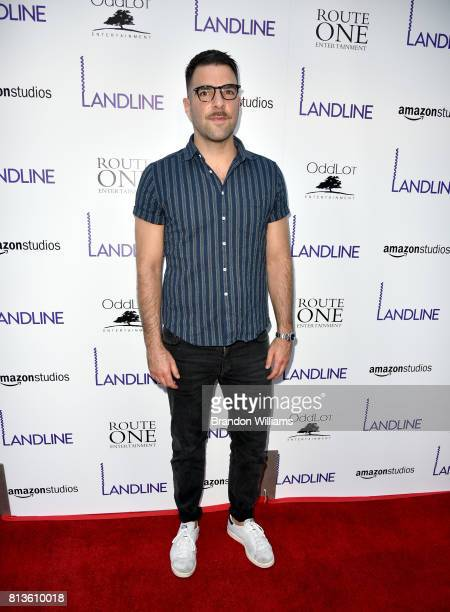Actor Zachary Quinto attends the premiere of Amazon Studios' 'Landline' at ArcLight Hollywood on July 12 2017 in Hollywood California