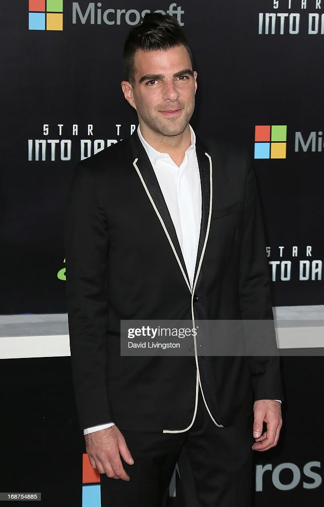 Actor Zachary Quinto attends the premiere of Paramount Pictures' 'Star Trek Into Darkness' at the Dolby Theatre on May 14, 2013 in Hollywood, California.