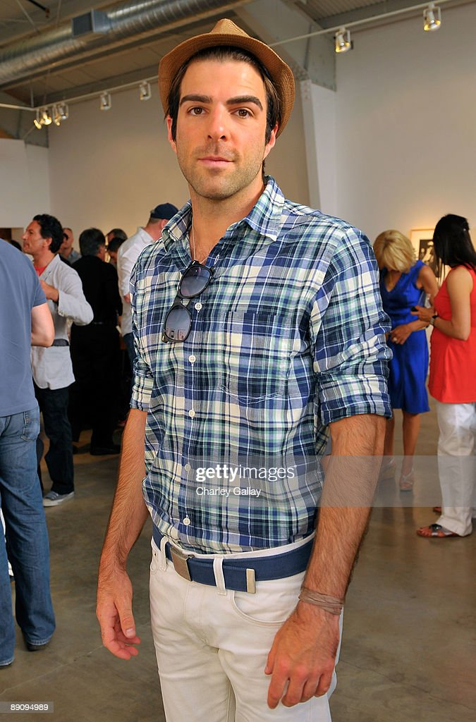 Actor Zachary Quinto attends the reception of 'Jessica Lange: 50 Photographs 1992-2008' at The Rose Gallery on July 18, 2009 in Santa Monica, California.