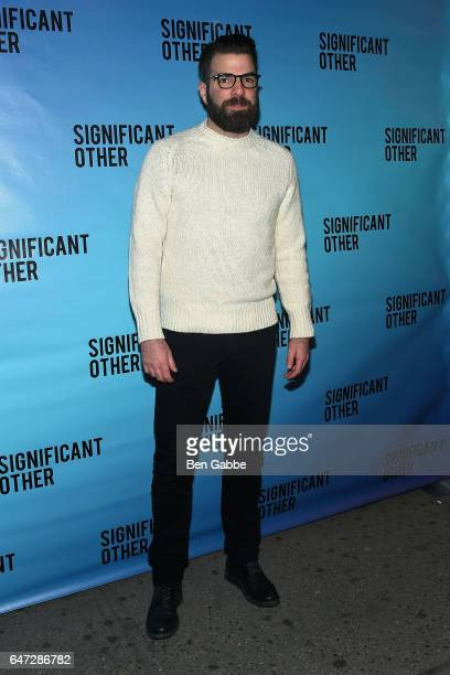 Actor Zachary Quinto attends the 'Significant Other' Opening Night Premiere at Booth Theatre on March 2 2017 in New York City