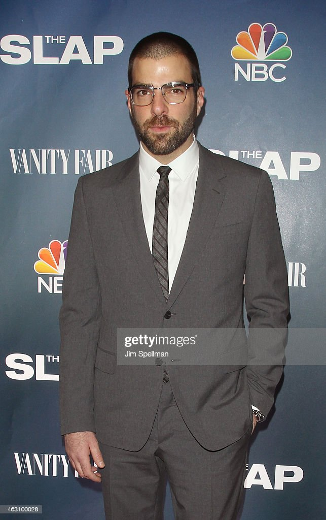 Actor Zachary Quinto attends 'The Slap' premiere party at The New Museum on February 9, 2015 in New York City.