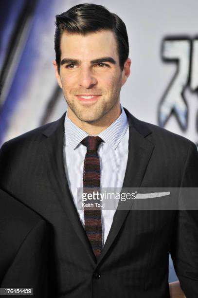 Actor Zachary Quinto attends the 'Star Trek Into Darkness' Japan Premiere at the Roppongi Hills on August 13 2013 in Tokyo Japan