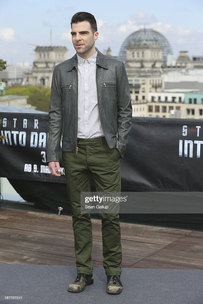 Actor Zachary Quinto attends the 'Star Trek Into Darkness' Photocall at China Club on April 28, 2013 in Berlin, Germany.