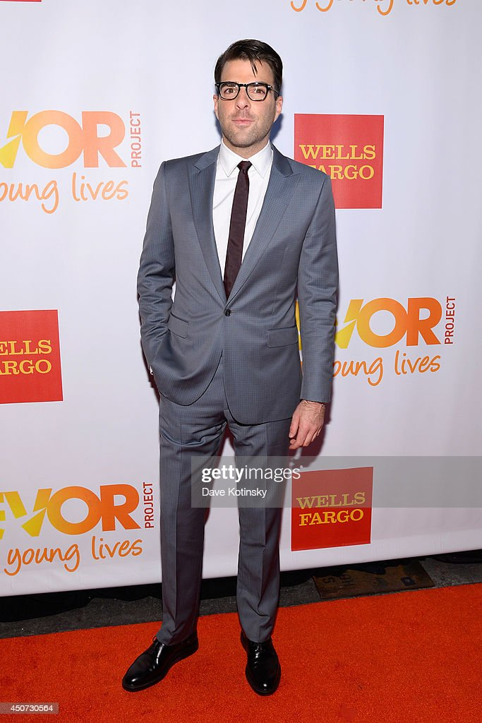 Actor Zachary Quinto attends the Trevor Project's 2014 'TrevorLIVE NY' Event at the Marriott Marquis Hotel on June 16, 2014 in New York City.