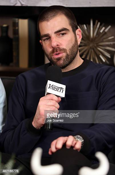 Actor Zachary Quinto attends The Variety Studio At Sundance Presented By Dockers on January 25 2015 in Park City Utah