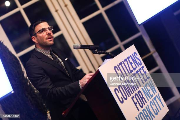 Actor Zachary Quinto during the Citizens Committee for New York City's Evening on the Lake benefit on September 19 2017 in New York City