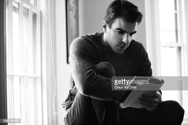 Actor Zachary Quinto is photographed for August Man on April 2 2013 in New York City