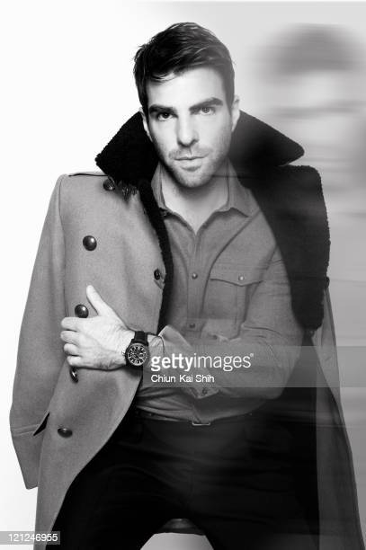 Actor Zachary Quinto is photographed for August Man on June 9 2011 in New York City COVER IMAGE