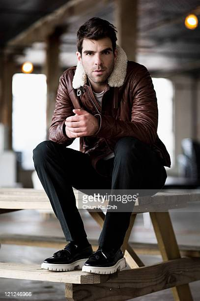 Actor Zachary Quinto is photographed for August Man on June 9 2011 in New York City PUBLISHED IMAGE
