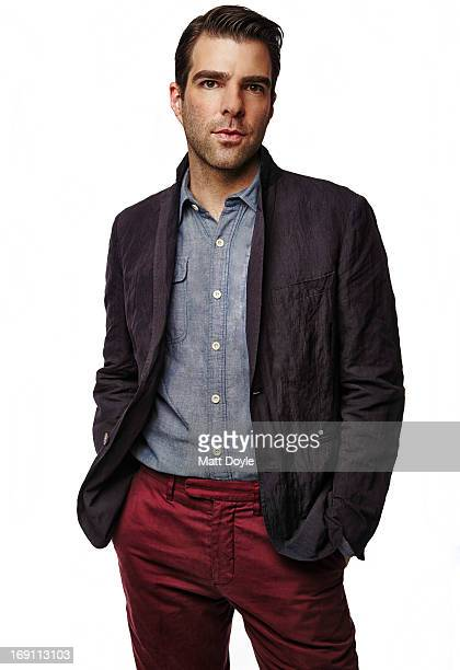 Actor Zachary Quinto is photographed for Back Stage on April 10 2013 in New York City