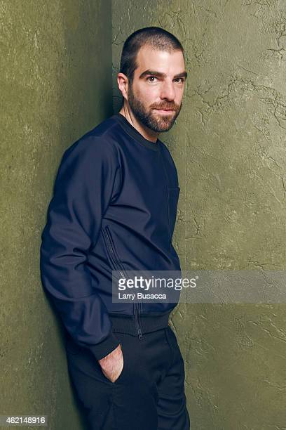 Actor Zachary Quinto of 'I Am Michael' poses for a portrait at the Village at the Lift Presented by McDonald's McCafe during the 2015 Sundance Film...