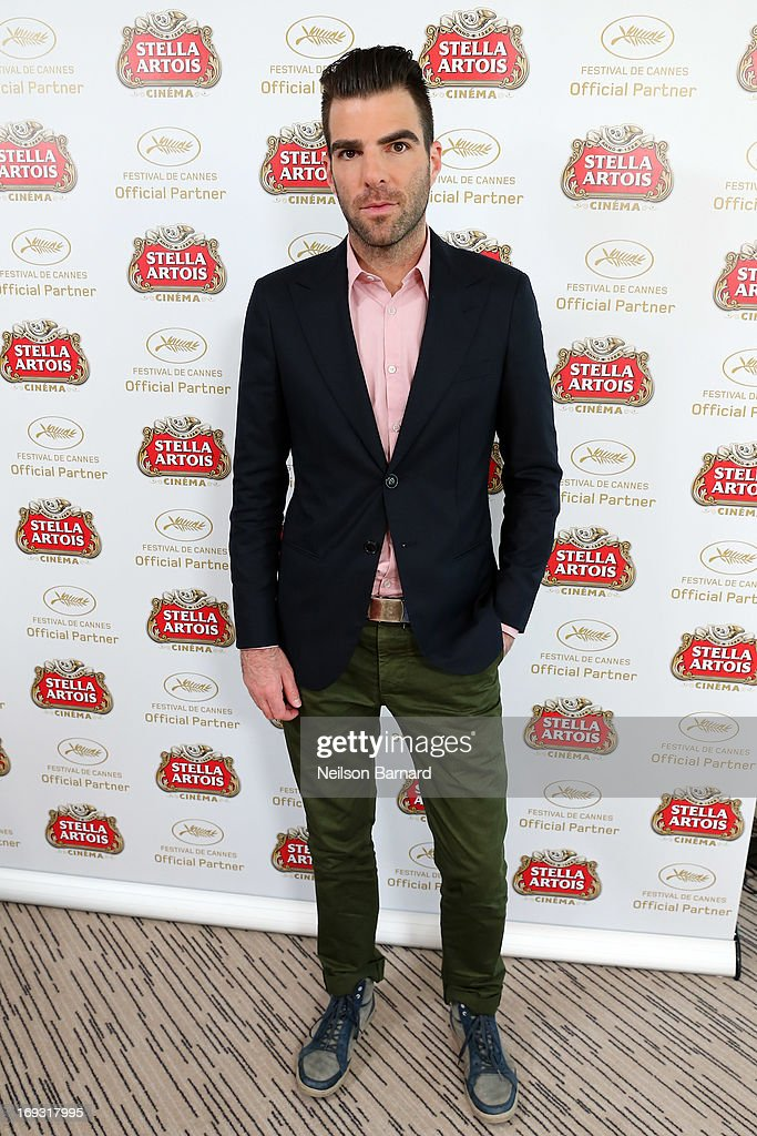 Actor Zachary Quinto visits The Stella Artois Suite during The 66th Annual Cannes Film Festival at Radisson Blu on May 23, 2013 in Cannes, France.