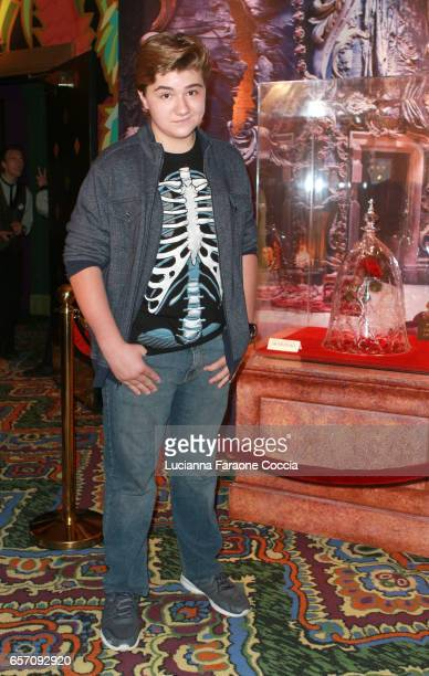 Actor Zachary Rice attends Red Walk special screening of Disney's 'Beauty And The Beast' at El Capitan Theatre on March 23 2017 in Los Angeles...