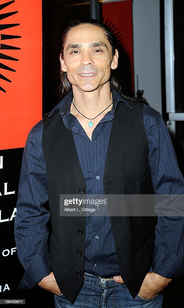 Actor <a gi-track='captionPersonalityLinkClicked' href=/galleries/search?phrase=Zahn+McClarnon+-+Actor&family=editorial&specificpeople=2358970 ng-click='$event.stopPropagation()'>Zahn McClarnon</a> arrives for the 9th Annual Red Nation Film Festival - Closing Night Gala held at Harmony Gold Theatre on November 14, 2012 in Los Angeles, California.