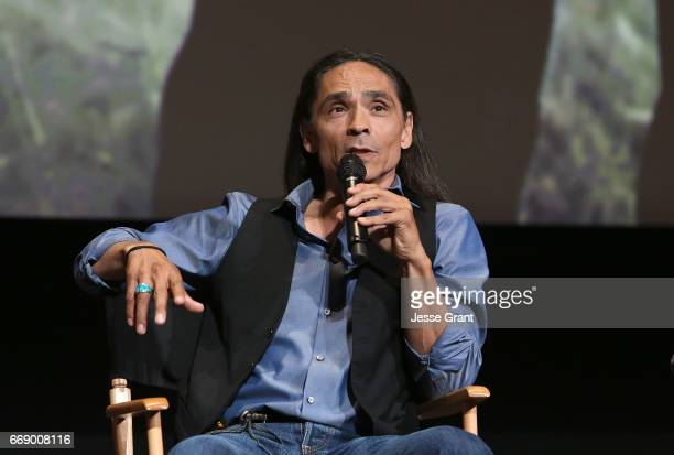 Actor Zahn McClarnon attends AMC's 'The Son' FYC Screening Panel Discussion on April 15 2017 in Los Angeles California