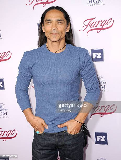 Actor Zahn McClarnon attends 'For Your Consideration' event for FX's 'Fargo' at Paramount Pictures on April 28 2016 in Los Angeles California