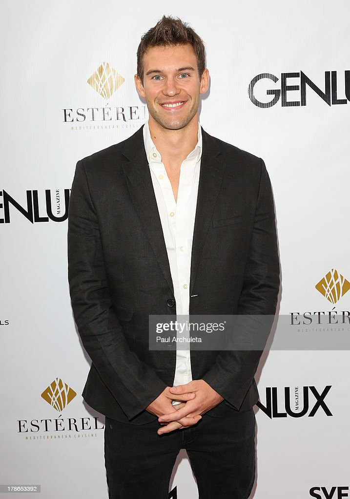 Actor Zane Stephens attends the Genlux Magazine release party at Sofitel Hotel on August 29, 2013 in Los Angeles, California.