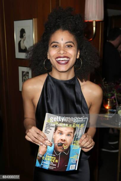 Actor Zazie Beetz attends Esquire's celebration of March cover star James Corden and the Mavericks of Hollywood presented by Hugo Boss at Sunset...