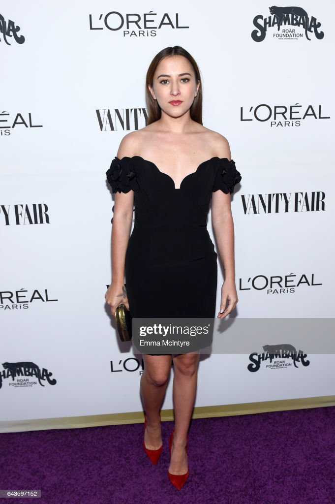 Actor Zelda Williams attends Vanity Fair and L'Oreal Paris Toast to Young Hollywood hosted by Dakota Johnson and Krista Smith at Delilah on February 21, 2017 in West Hollywood, California.
