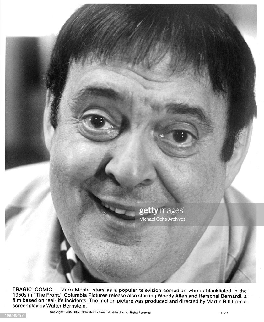 Actor <a gi-track='captionPersonalityLinkClicked' href=/galleries/search?phrase=Zero+Mostel&family=editorial&specificpeople=207033 ng-click='$event.stopPropagation()'>Zero Mostel</a> poses for a portrait as Hecky Brown in 'The Front' in circa 1976.